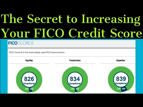 The Secret to Increasing Your FICO Credit Score REVEALED!  (MUST WATCH!)