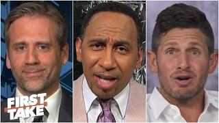 Max Kellerman's Giants draft strategy sparks a shouting match on First Take