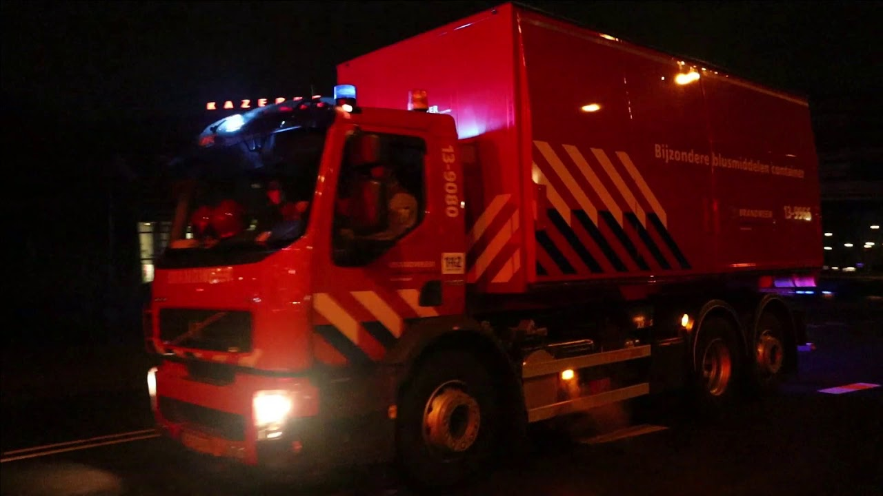 Prio1 Opkomst + Uitruk BBC & ASV2 naar een GRIP1 Grote Brand + gaslek in Amsterdam-Noord