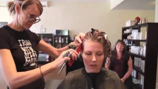 Haircut On Long Red Hair To A Pixie Cut