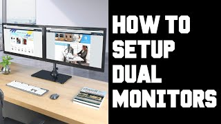 Easy How To Setup Dual Monitors - How To Setup Two Monitors on One Computer Windows 10 PC