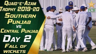 Fall of Wickets Day Two | Southern Punjab vs Central Punjab | Quaid-e-Azam Trophy 2019-20