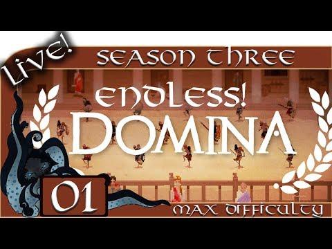 Domina (Gladiator Management Sim) - Season Three (Live) - #01 - Max Difficulty - Endless