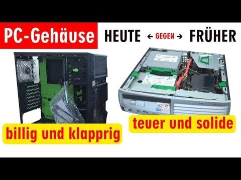 PC Gehäuse Test - Heute gegen Früher - billig und klapprig gegen teuer und solide - [4K]