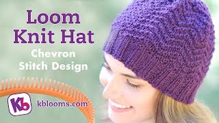 Loom Knit Hat- Chevron Stitch Pattern