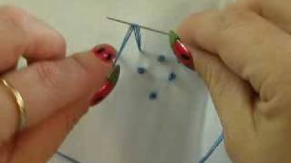Embroidery:  French Knots