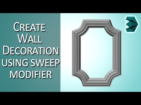 Wall Decoration tutorial in 3ds Max