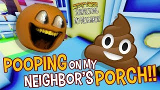 POOPING ON MY NEIGHBORS PORCH! | Surprising the Neighbors