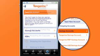 """Tangerine Bank """"Small Sacrifices"""" Mobile Banking App Feature"""
