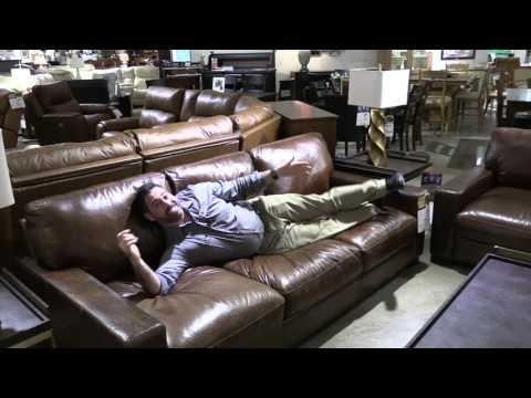 Gran sofá de cuero reclinable de cuero italiano de cuero de grano superior Altamonte FL