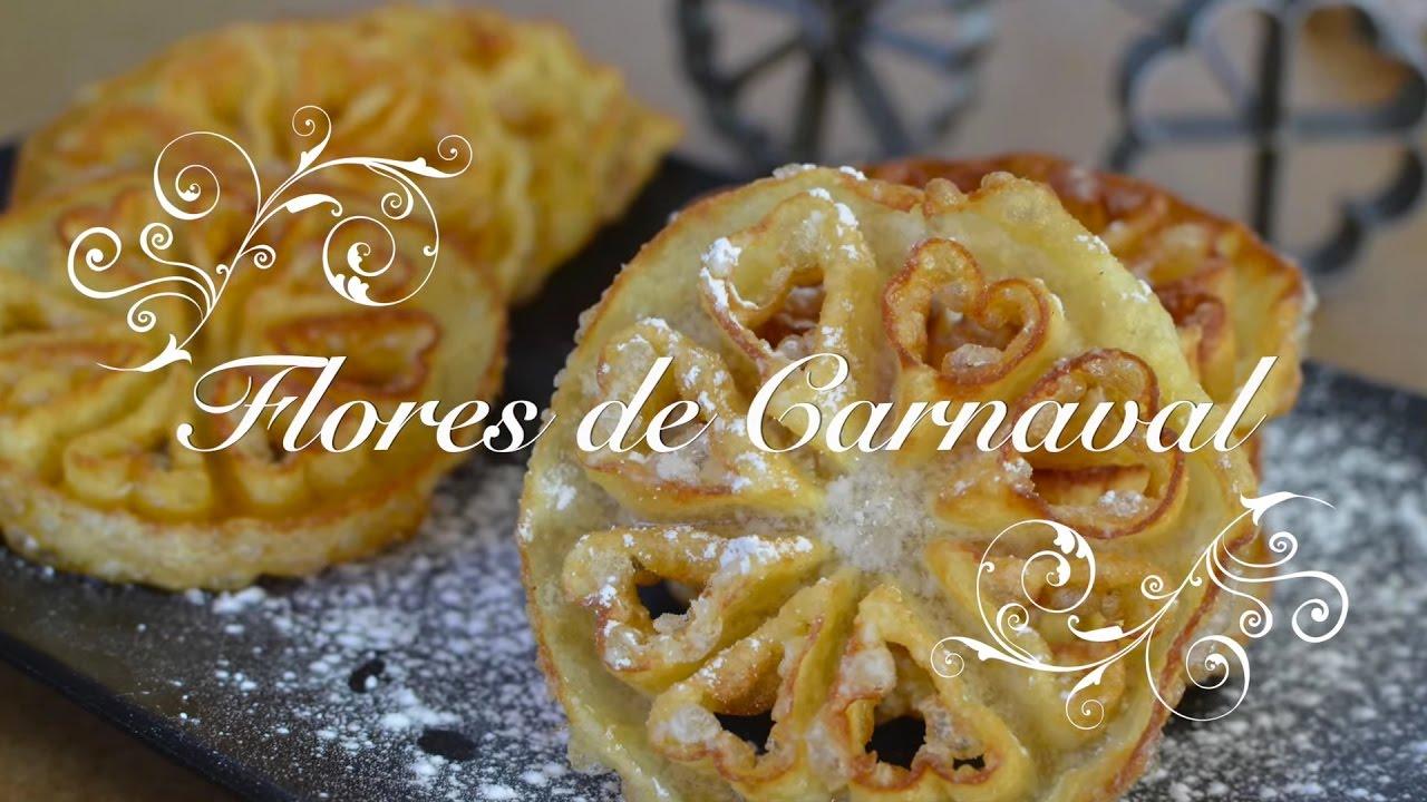 Flores de Carnaval caseras muy crujientes | Flores fritas | Receta de Flores | Flores Carnaval