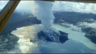 Ash and Steam Seen Rising From Vanuatu's Manaro Volcano 2017