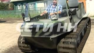 Гусеничный вездеход из старого автохлама собрал житель Ленинского района