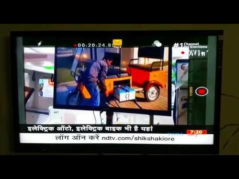 NDTV News GEM E Rickshaw
