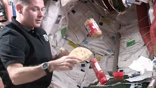 Weightless Peanut Butter And Jelly Sandwich Making In Space