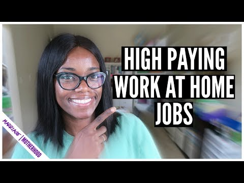 HIGH PAYING WORK FROM HOME JOBS (No Degree Required)  💸