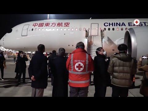 Arrivati in Italia gli aiuti della Cina contro il Coronavirus