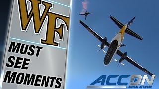 Army Sky Team Descends on Wake Forest's Football Stadium   ACC Must See Moment