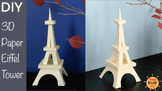DIY 3D PAPER EIFFEL TOWER I EASY DIY PAPER CRAFTS   HOME DECOR IDEAS