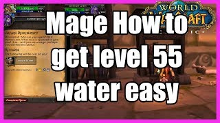 How to get the Mage Quest for Conjure Water Rank 7, WoW Classic Arcane Refreshment