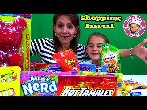 Süßigkeiten Spielzeug SHOPPING HAUL | CuteBabyMiley Kanal für Kinder