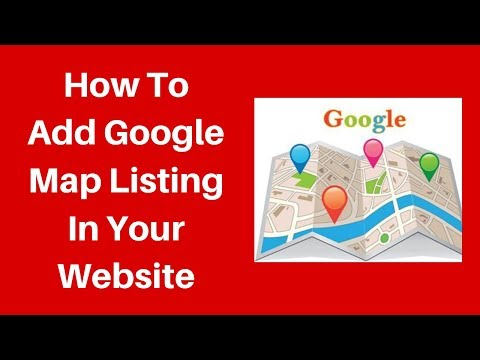 How to add google map listing in your website