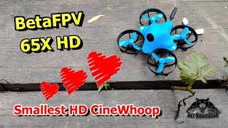 BetaFPV 65X HD FPV Whoop CineWhoop indoor drone test flight