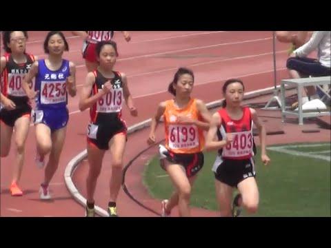 群馬県中学校春季記録会2016(前橋会場)共通女子1500m1組