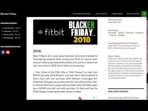 Fitbit Black Friday 2018 Sale Predictions