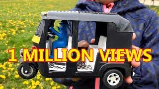 Auto Rickshaw/Tuk Tuk Unboxing: Kids Outdoor Toys & Fun Play