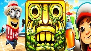 Despicable Me 2 Minion Rush vs Temple Run 2 Lost Jungle vs Subway Surfers Full Gameplay!
