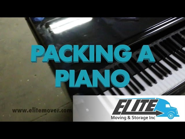 How To Pack A Piano When You Are Moving