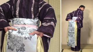京都 きもの京小町 女優 こばやしあきこ(きものん)きもの初心者の方におすすめ 着物 着付けお稽古 名古屋帯の結び方