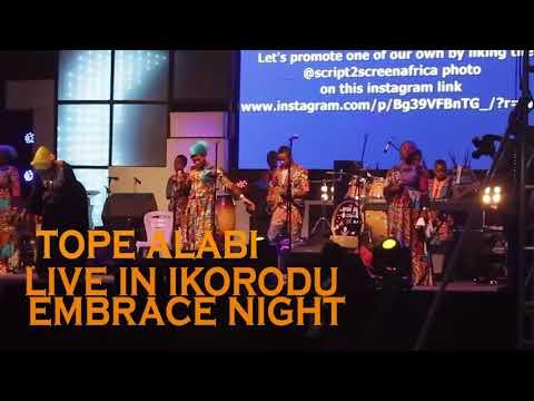 Tope Alabi In High Worship and Praise At  Ikorodu Embrace Night