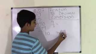 6th Grade Math How to Convert Fraction to Decimal Number