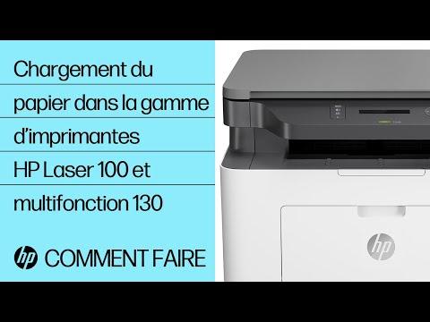Chargement du papier dans la gamme d'imprimantes HP Laser 100 et multifonction 130