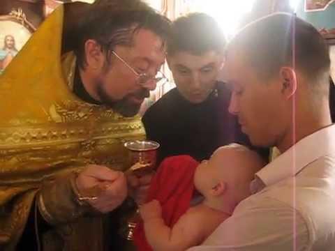 Причащение младенцев после Крещения