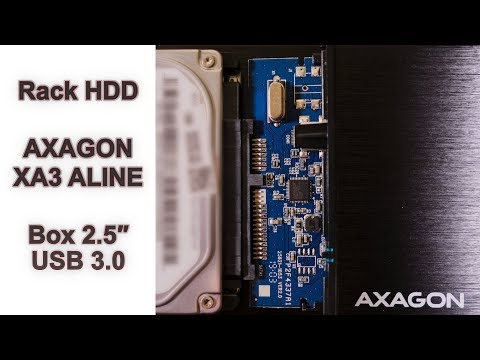 Prezentare Rack AXAGON XA3 ALINE Box 2.5 USB 3.0