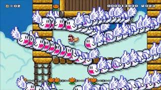 【Super Mario Maker】クリア率0.02%(2/7977)アメリカ最強中学生の超鬼畜ノンストップマントコースに挑戦【マリオメーカー】