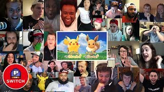 Live Reactions: Pokémon Let's Go trailer for Nintendo Switch  (30+ Youtubers Synched Compilation)