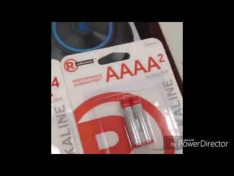 Video batterie AA AAA AAAA