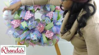 How To Attach Plush Embellishments To A Deco Mesh Wreath