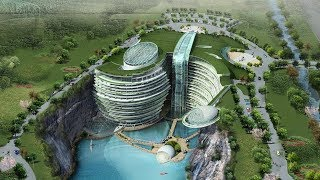 Shanghai's Underwater Quarry Hotel | The B1M