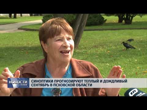 Новости Псков 05.09.2018 # Синоптики прогнозируют теплый и дождливый сентябрь в Псковской области