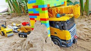 중장비 자동차 장난감 변신놀이 모래놀이 Car Toy Transformer Magic Block