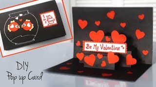 DIY Valentines Card | CUTE Pop Up Card | Valentines Card Handmade Easy