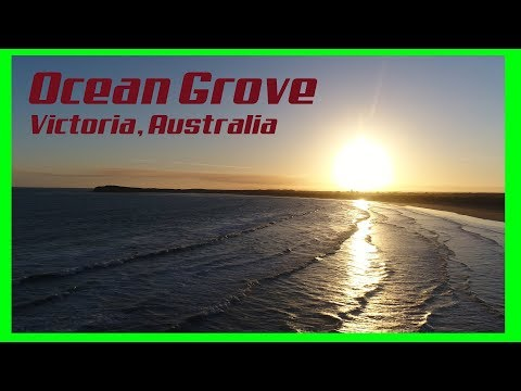 Overhead shots of Ocean Grove via drone