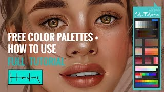 Procreate Color Palettes + How to use FULL TUTORIAL