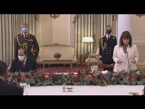 Επίσημο δείπνο στο Προεδρικό μέγαρο προς τιμήν του Προέδρου της Αιγύπτου Αλ Σίσι