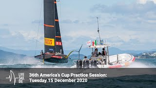 36th America's Cup Practice Session - Tuesday 15 December 2020